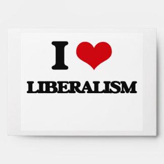 I Love Liberalism Envelopes