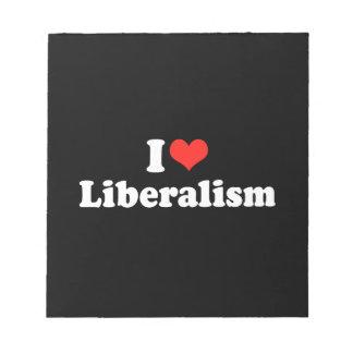 I LOVE LIBERALISM png Memo Note Pads