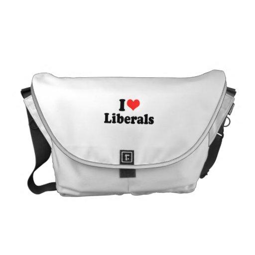 I LOVE LIBERALS.png Courier Bag