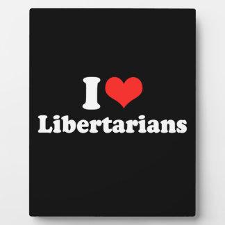 I LOVE LIBERTARIANS.png Photo Plaques