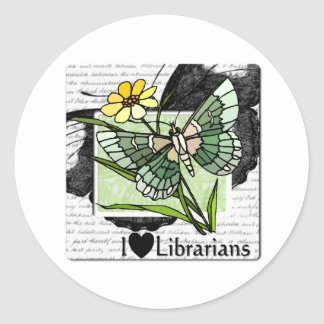 I Love Librarians Classic Round Sticker