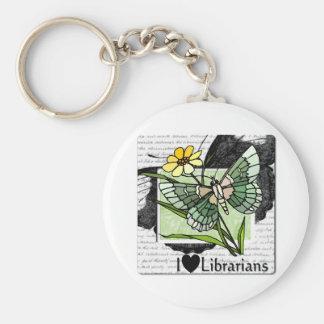 I Love Librarians Keychain