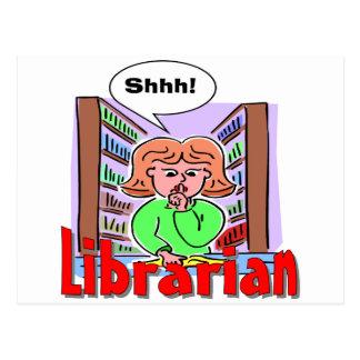 I Love Librarians Postcard