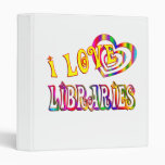 I Love Libraries 3 Ring Binders