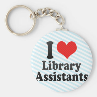 I Love Library Assistants Key Chain