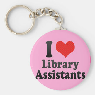 I Love Library Assistants Key Chains