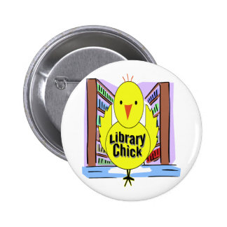 I Love Library Chicks Button