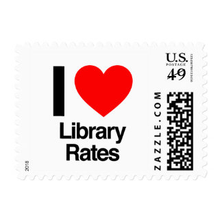 i love library rates postage stamps