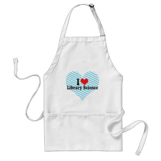 I Love Library Science Adult Apron