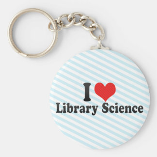 I Love Library Science Keychain
