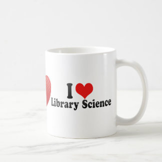 I Love Library Science Mugs