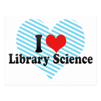 I Love Library Science Postcard