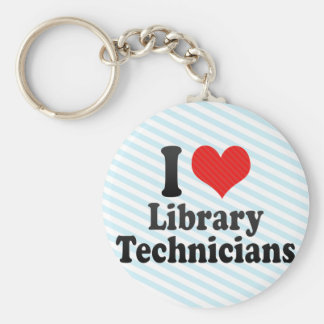 I Love Library Technicians Key Chains