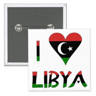 I Love Libya 2 Inch Square Button