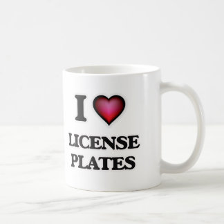 I Love License Plates Coffee Mug