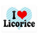 I Love Licorice Postcard