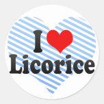 I Love Licorice Stickers