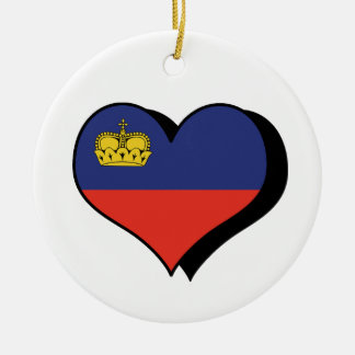 I Love Liechtenstein Flag Ornament
