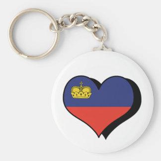 I Love Liechtenstein Keychain