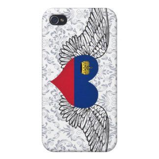 I Love Liechtenstein -wings iPhone 4/4S Case