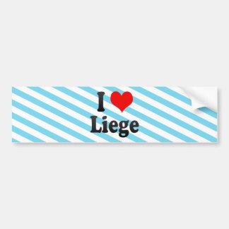 I Love Liege, Belgium Car Bumper Sticker
