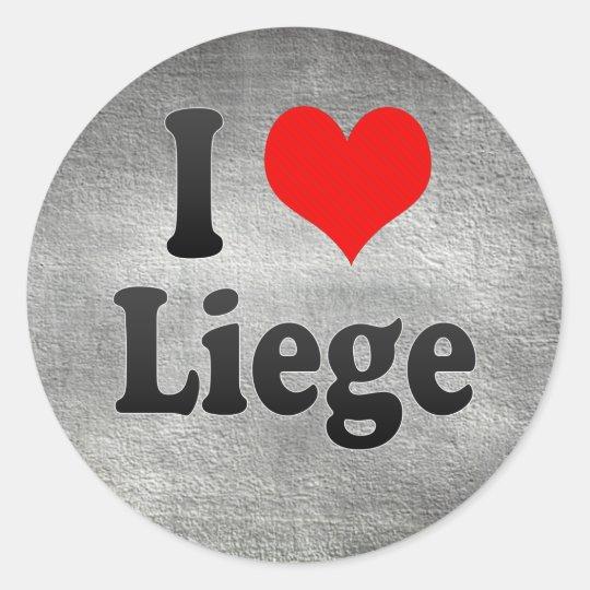 I Love Liege, Belgium Classic Round Sticker