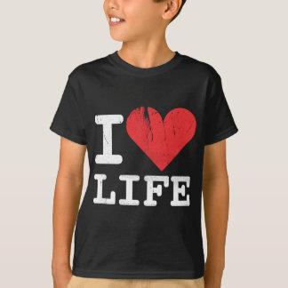 I Love Life Dark Kids T-shirt