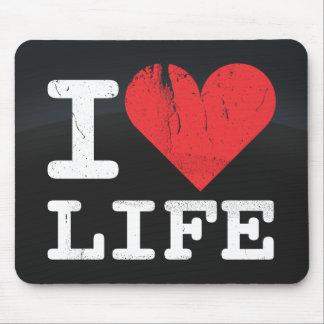 I Love Life Dark Mousepad
