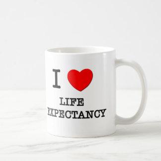I Love Life Expectancy Coffee Mugs