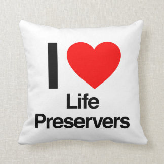 i love life preservers pillow