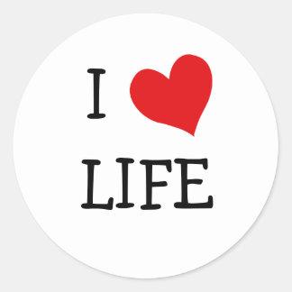 I Love Life Round Stickers