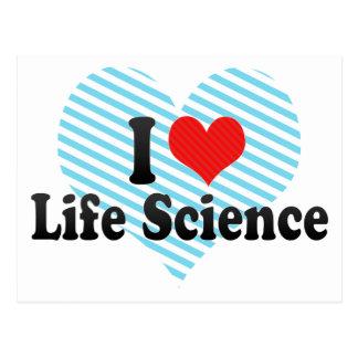 I Love Life Science Postcard