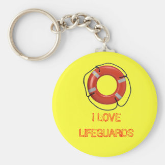 I LOVE LIFEGUARDS KEYCHAIN
