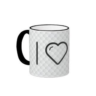 I Love Lifeguards Ringer Coffee Mug