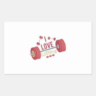 I Love Lifting Rectangular Sticker