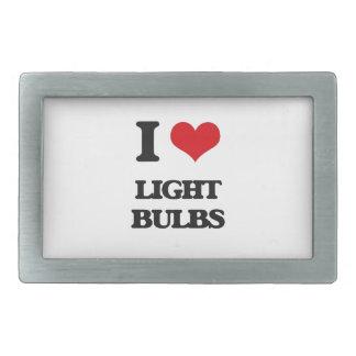 I Love Light Bulbs Belt Buckle