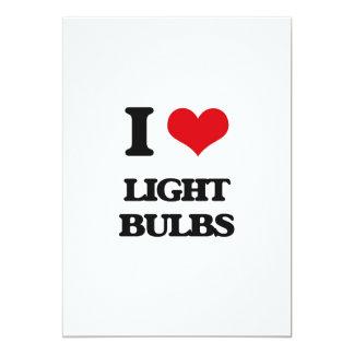 I Love Light Bulbs 5x7 Paper Invitation Card