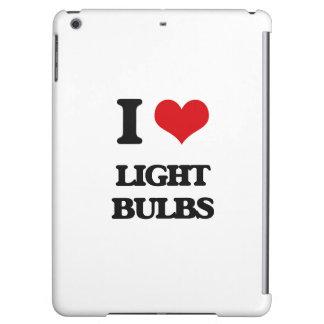 I Love Light Bulbs iPad Air Covers