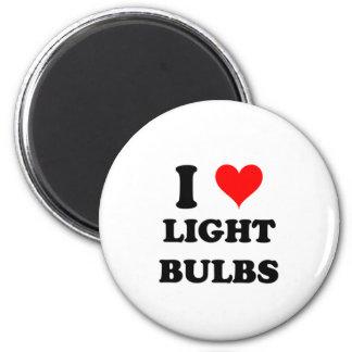 I Love Light Bulbs Fridge Magnet