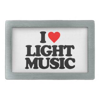 I LOVE LIGHT MUSIC BELT BUCKLE