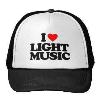 I LOVE LIGHT MUSIC TRUCKER HAT