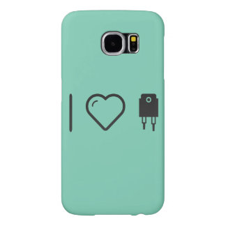 I Love Light Plugs Samsung Galaxy S6 Cases