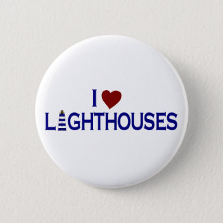 I Love Lighthouses Button