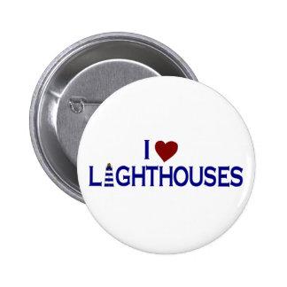 I Love Lighthouses Pins