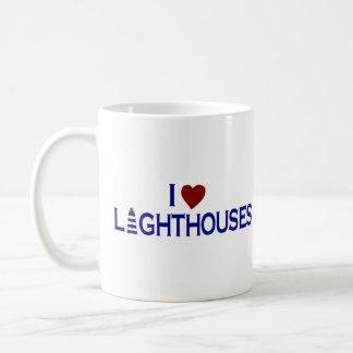 I Love Lighthouses Classic White Coffee Mug