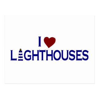 I Love Lighthouses Postcard
