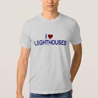 I Love Lighthouses T Shirt