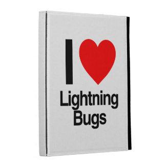 i love lightning bugs iPad folio covers