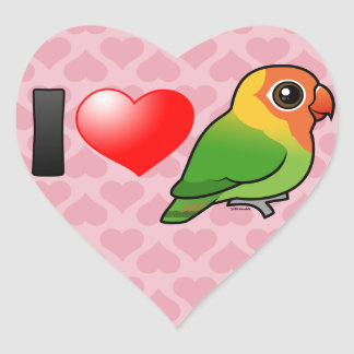 I Love Lilian's Lovebirds Heart Sticker