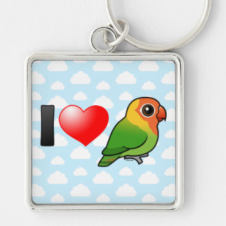 I Love Lilian's Lovebirds Keychain
